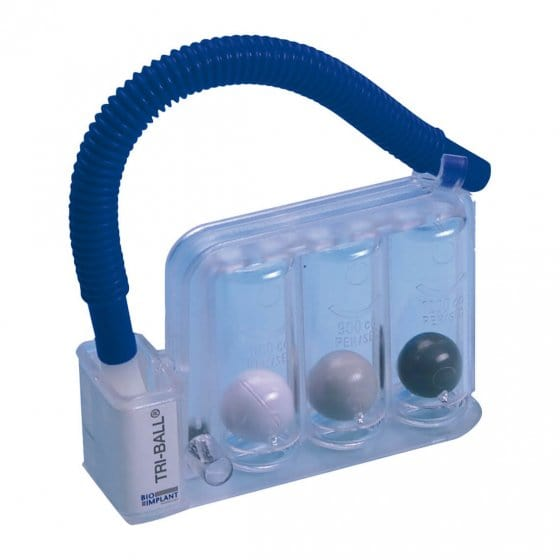 "Spiromètre d'entraînement  ""Tri-Ball"""