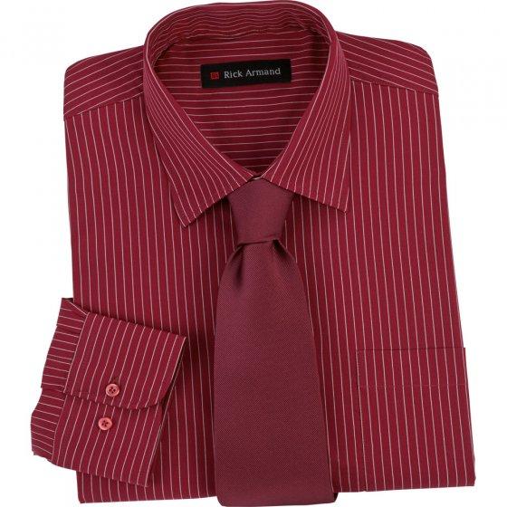 Chemise avec cravate XL | Bordeaux