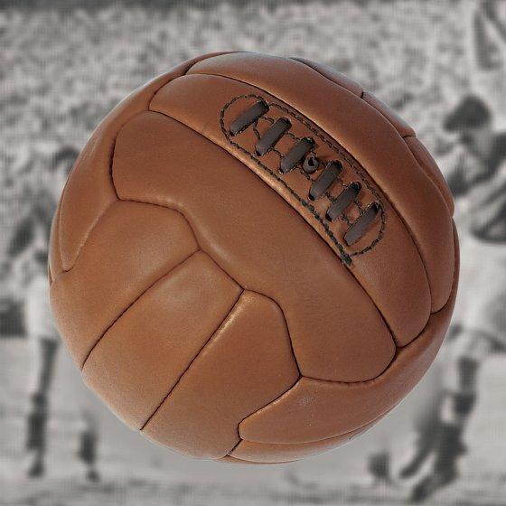 Nostalgische leren voetbal