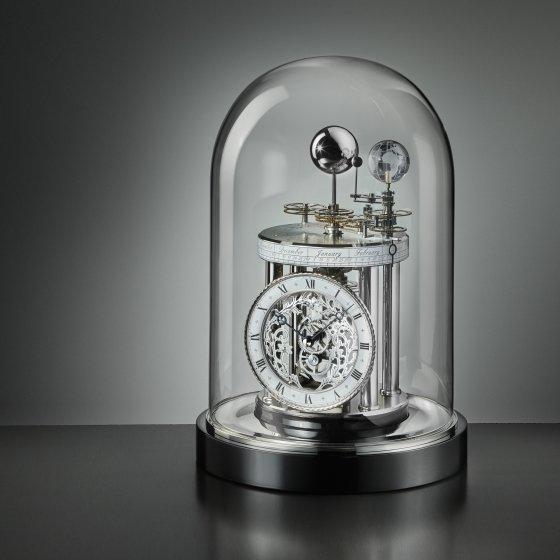 Pendule astrolabe Chrome/noir