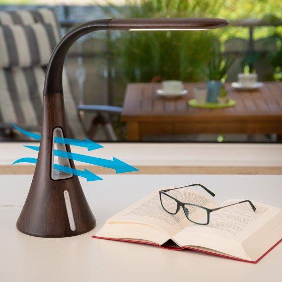 Lampe de table à LED avec ventilateur