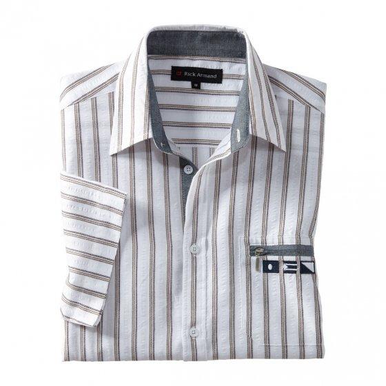Comfort-overhemd met structuur