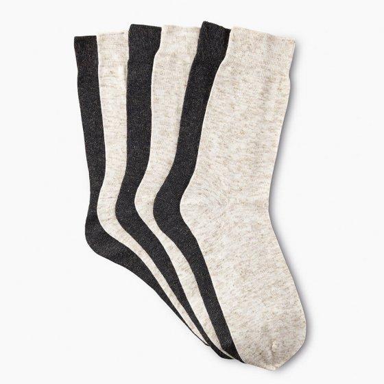 Katoenen sokken met linnen 6 stuks