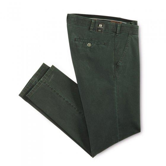 Pantalon en coton high-stretch 25 | Vertfoncé