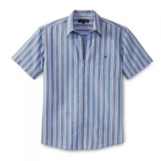 Chemise zippée en seersucker