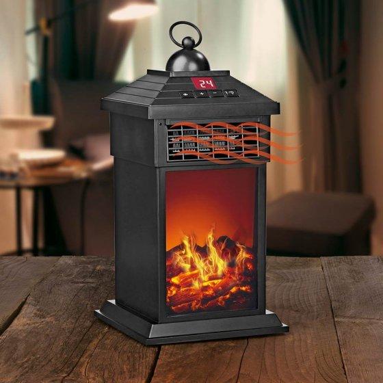 Lanterne simulation feu de cheminée