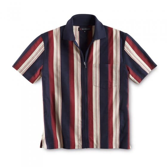 Polo a.zip continu,Marine-roug M | Marine-rouge