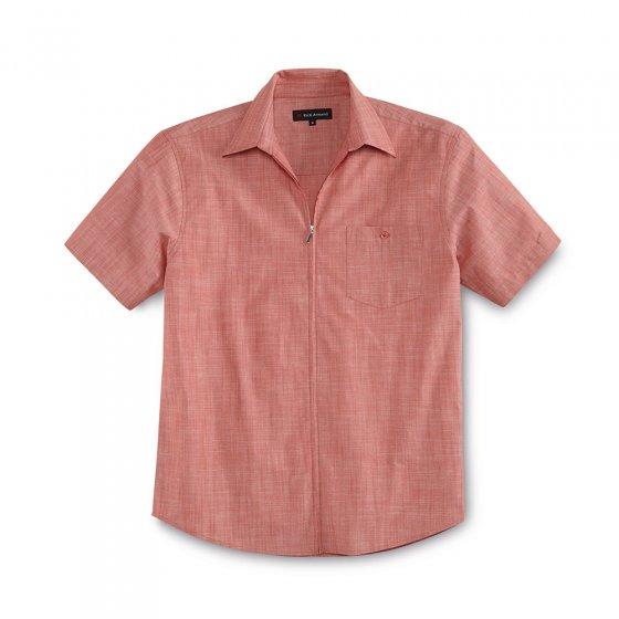 Chemise d'été zippée 3XL | Blanc