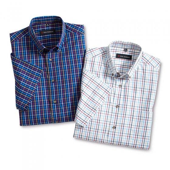 Lot de deux chemises maritimes à carreaux