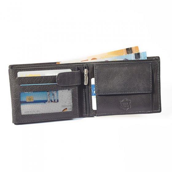 Portefeuille anti-RFID en cuir de buffle