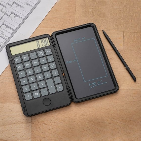 Elektronisch tekentablet met rekenmachine