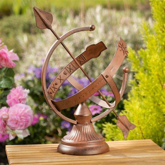 Decoratieve zonnewijzer in roest-look