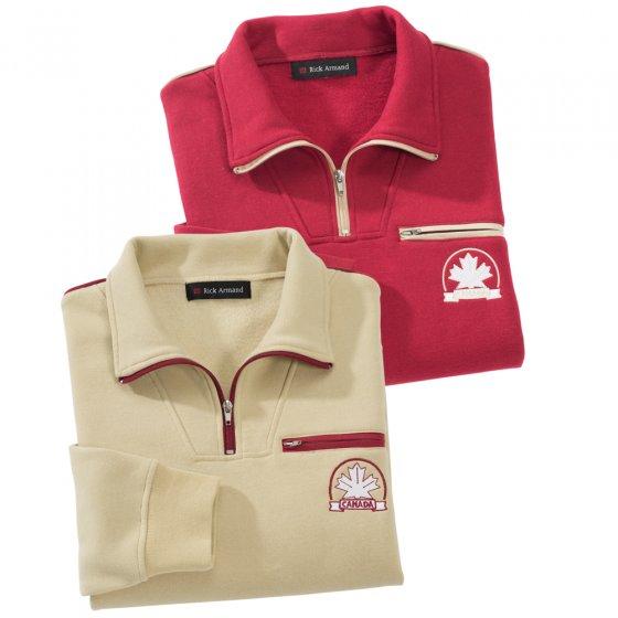 Sweat-shirt polaire,beige 3XL   Beige