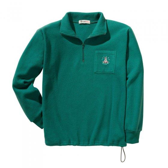 Fleece-sweater borduursel,Rood