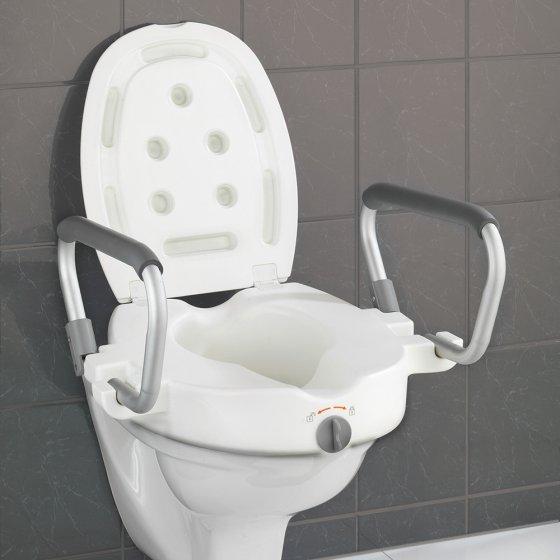Réhausseur de toilettes avec accoudoirs