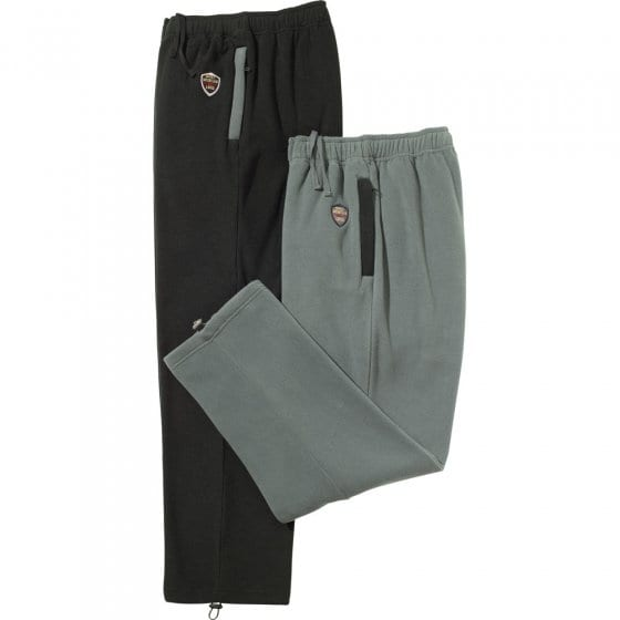 Pantalons thermiques par 2 XXL | Noir#Gris