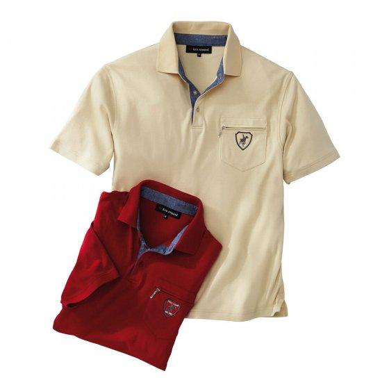 Interlockshirt met contrasterende kraag