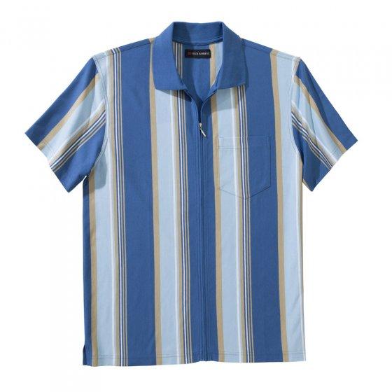Jerseyshirt met deelbare ritssluiting