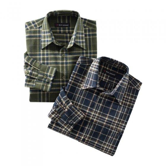 Flanellen overhemd van zuiver katoen