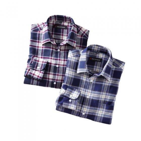 Katoen-flanellen overhemd