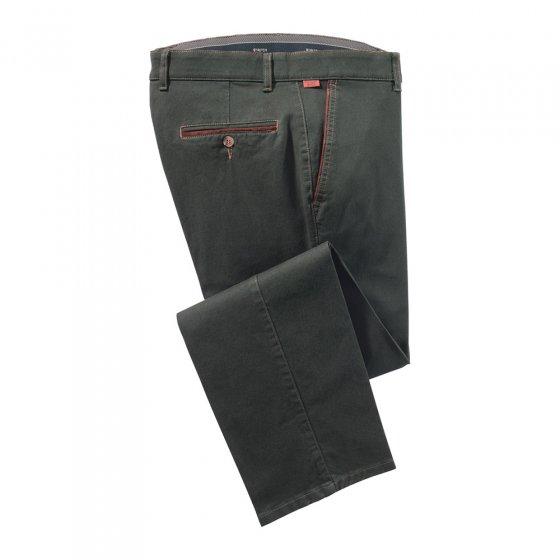 Pantalon de coton à lisérés contrastés