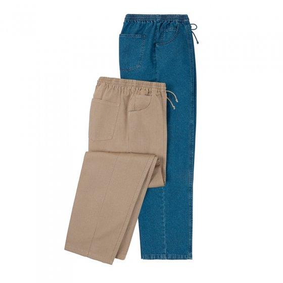 Comfortabele broek - 2 stuks Beide