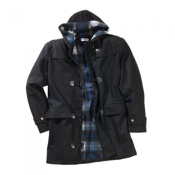 Duffle-coat en laine L | Noir