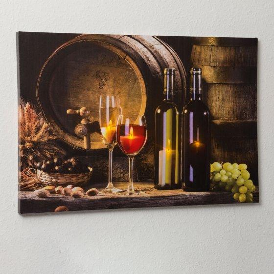 Led-artprint 'Wijnkelder'