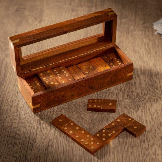 Dominospel van massief hout