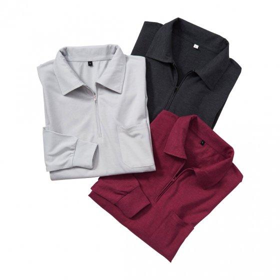Polos jersey en lot de 3 M | Anthracite#Bordeaux#Argent