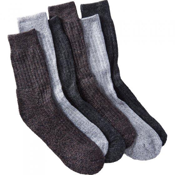 Vrijetijdssokken met wol in een set van 6 paar