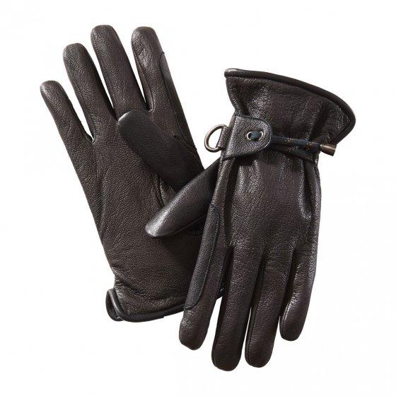 Leren handschoen met verstelbandje