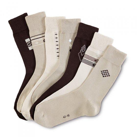 Katoenen stretch-sokken