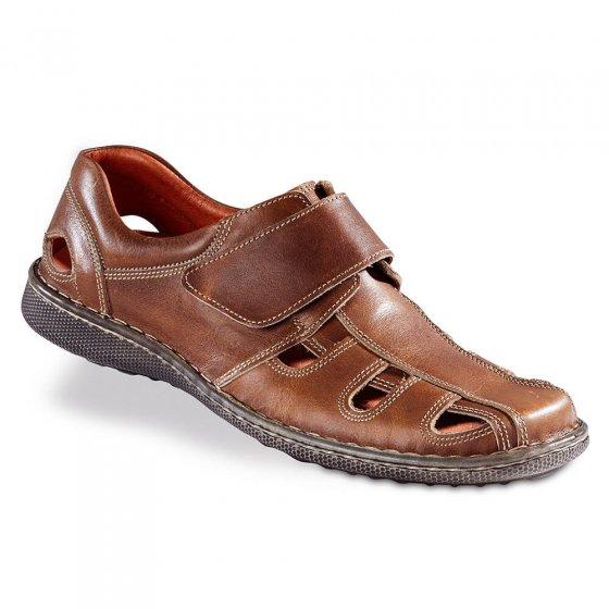 Chaussures d'été à patte auto-agrippante 41 | Tabac