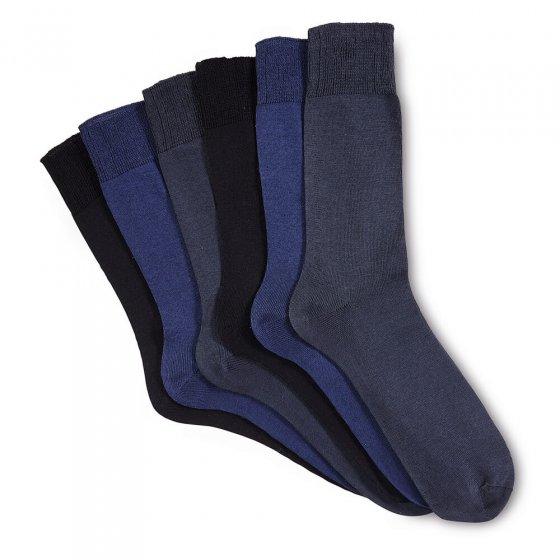 Gemerceriseerde katoenen sokken 6 stuks