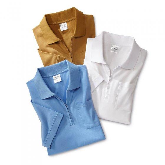 Polo jersey Lot de 3  XL   Sable#Bleuclair#Blanc