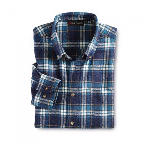 Katoenflanel-overhemd