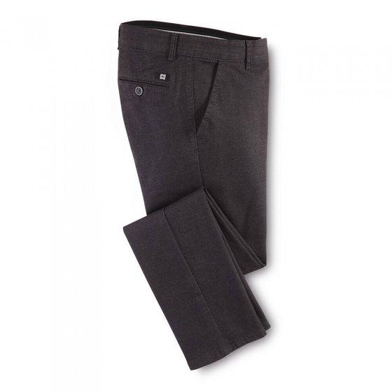 Pantalon en coton aspect laine 50 | Anthracite
