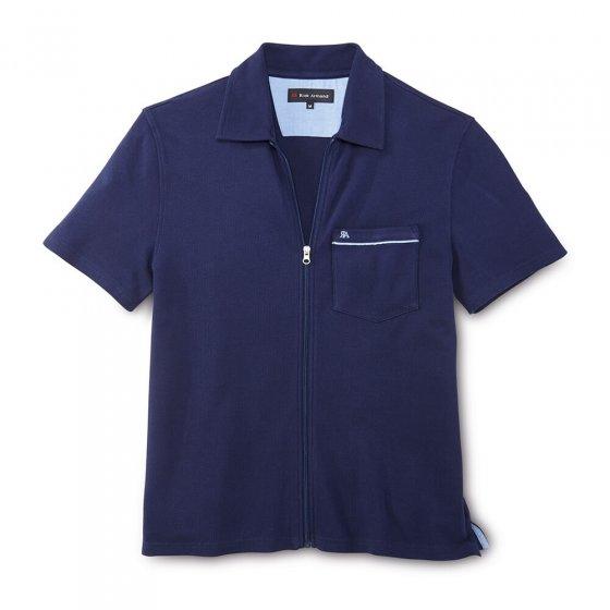 Shirt met structuur en ritssluiting