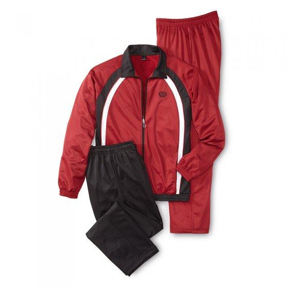 Ensemble de sport avec 2 pantalons M | Bordeaux-noir