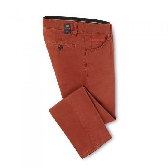 Pantalon coton high stretch