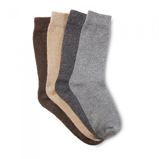 Chaussettes en laine avec alpaga Lot de 4 43/46