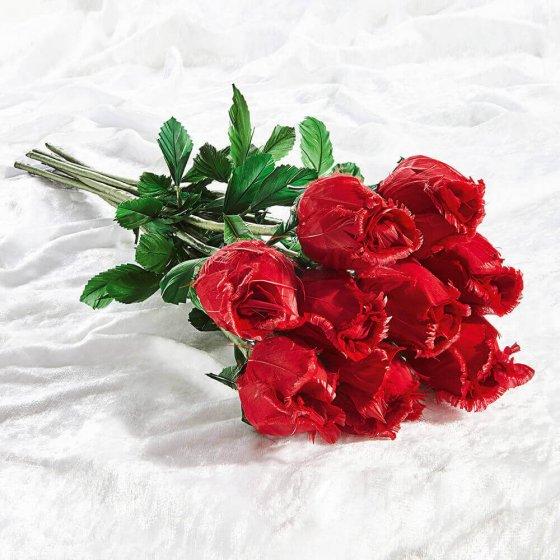 Handgemaakte rozen van ganzenveren