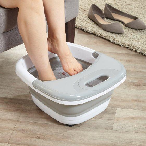 Bain de pieds bouillonnant pliant