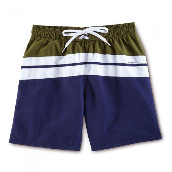 Short de bain XXL | Marine-blanc-olive