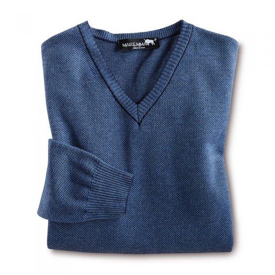 Pull moderne en V 58 | Bleu