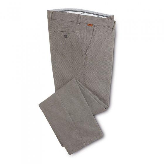 Pantalon coton style moderne 27 | Gris#beige