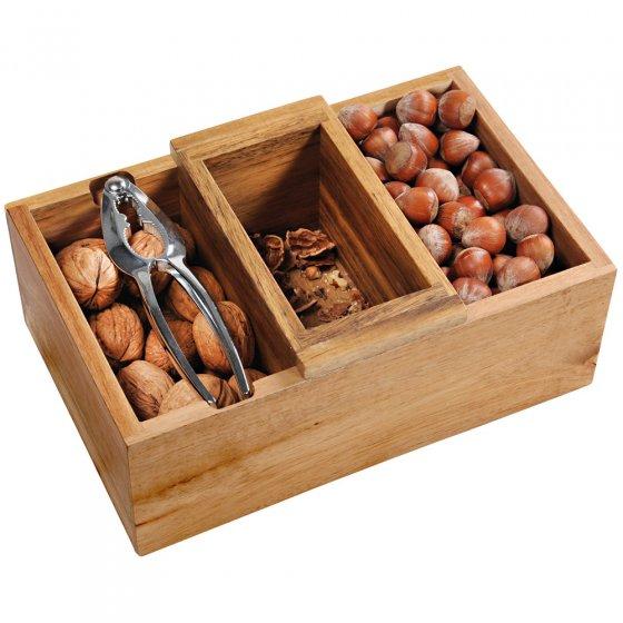 Plat à noix avec casse-noix