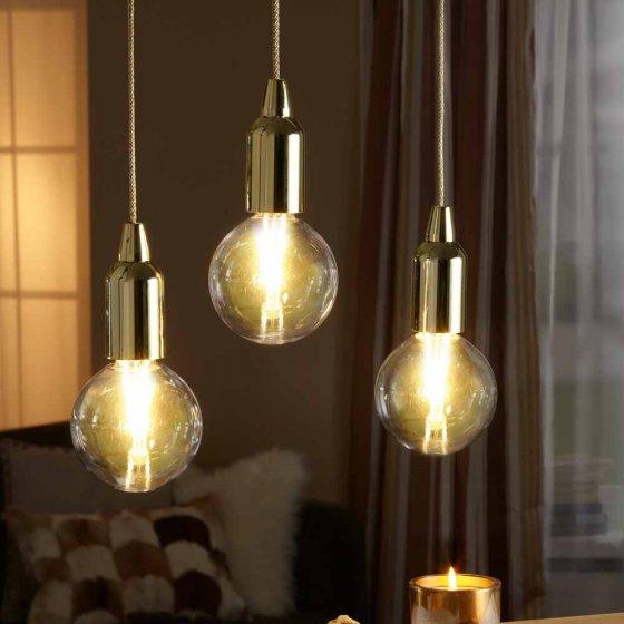 """Trio de lampes sans fil  """"Gold"""" Lot de 3"""