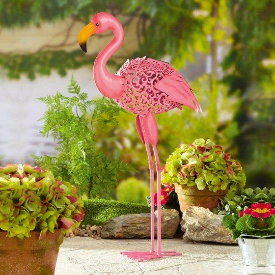 Flamant rose solaire pour le jardin